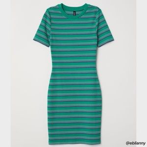 5 for 30!!! Green Striped Dress